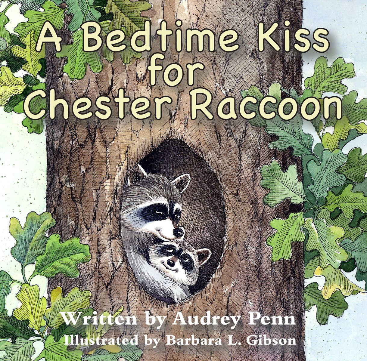 A Bedtime Kiss for Chester Raccoon Board Book Cover