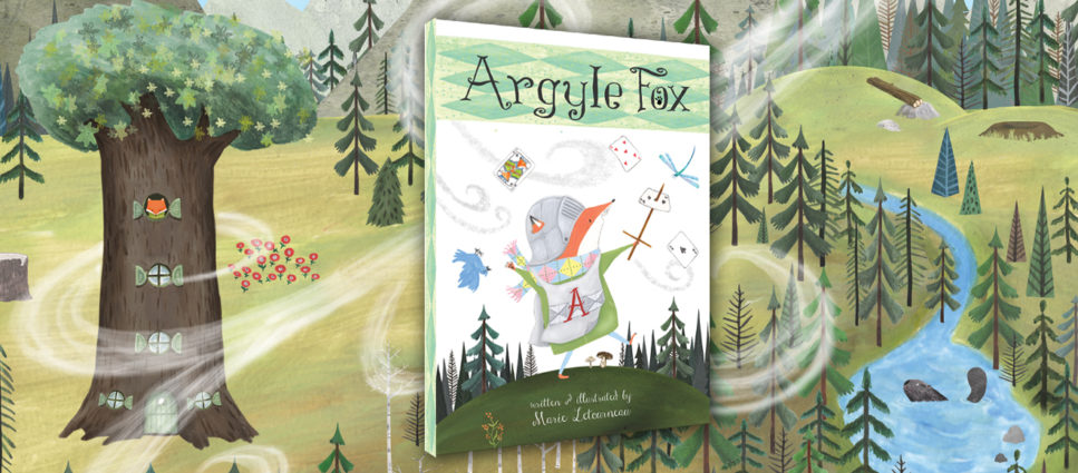 Argyle Fox Full Slider with forest and huge tree in background