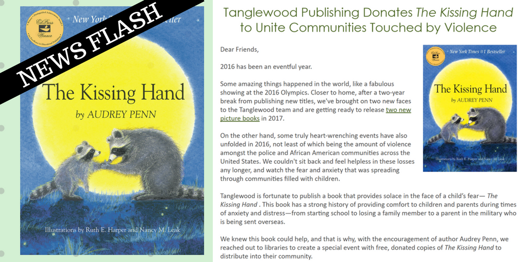 the kissing hand community unity press release newsflash