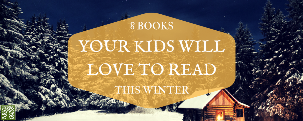 8 books your kids will love to read this winter image with wooden cabin, snow, and pine trees