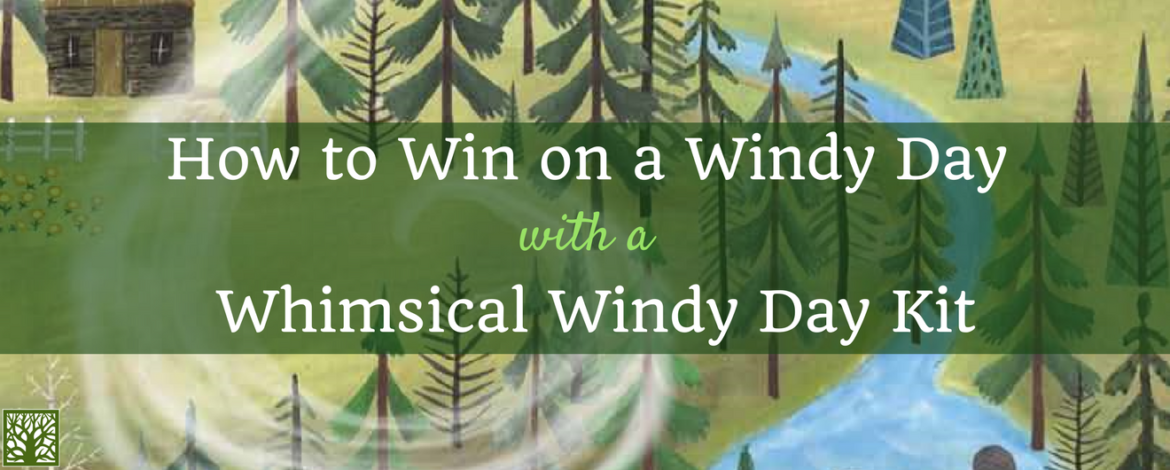 How to Win on a Windy Day with a Whimsical Windy Day Kit with Argyle Fox Book Background