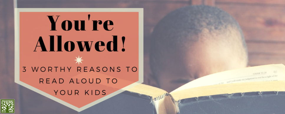 You're Allowed!: 3 Worthy Reasons to Read Aloud to Your Kids Blog Post Image