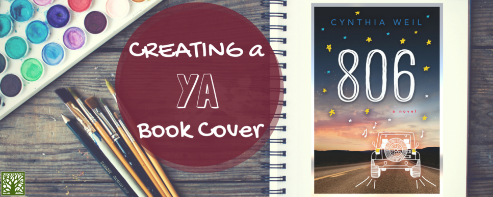 Creating a YA Book Cover Image with 806: A Novel cover and paint brushes