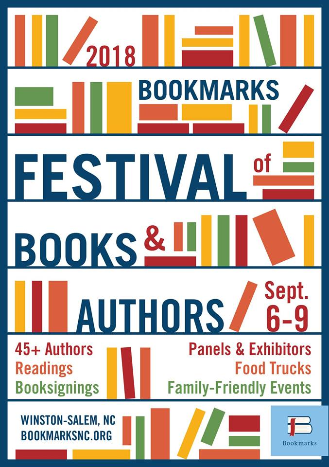 Poster for the 2018 Bookmarks Festival of Books